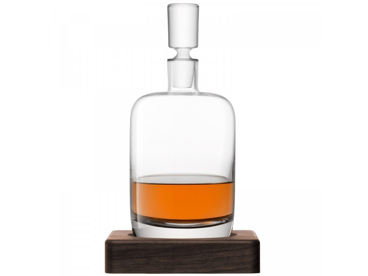 Whisky Renfrew Decanter 1,1L med bordskåner i valnød