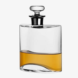 Flask Decanter 800ml klar med Platin hals