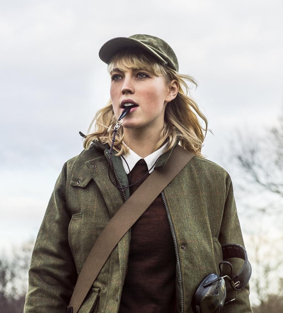 Walker & Hawkes Tweed Country Ladies Jacket mørk grøn
