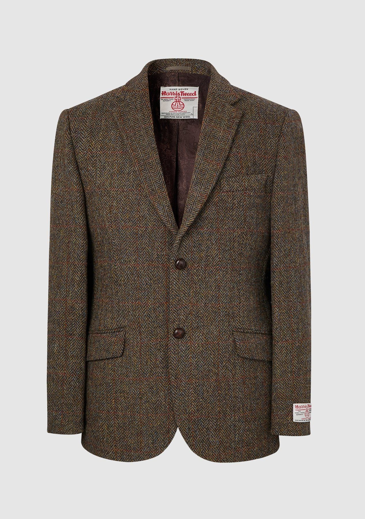 Image of   Patrick Jacket Harris Tweed, brun herringbone