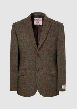 Patrick Jacket Harris Tweed, brun herringbone