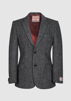 Patrick Jacket Harris Tweed, charcoal herringbone