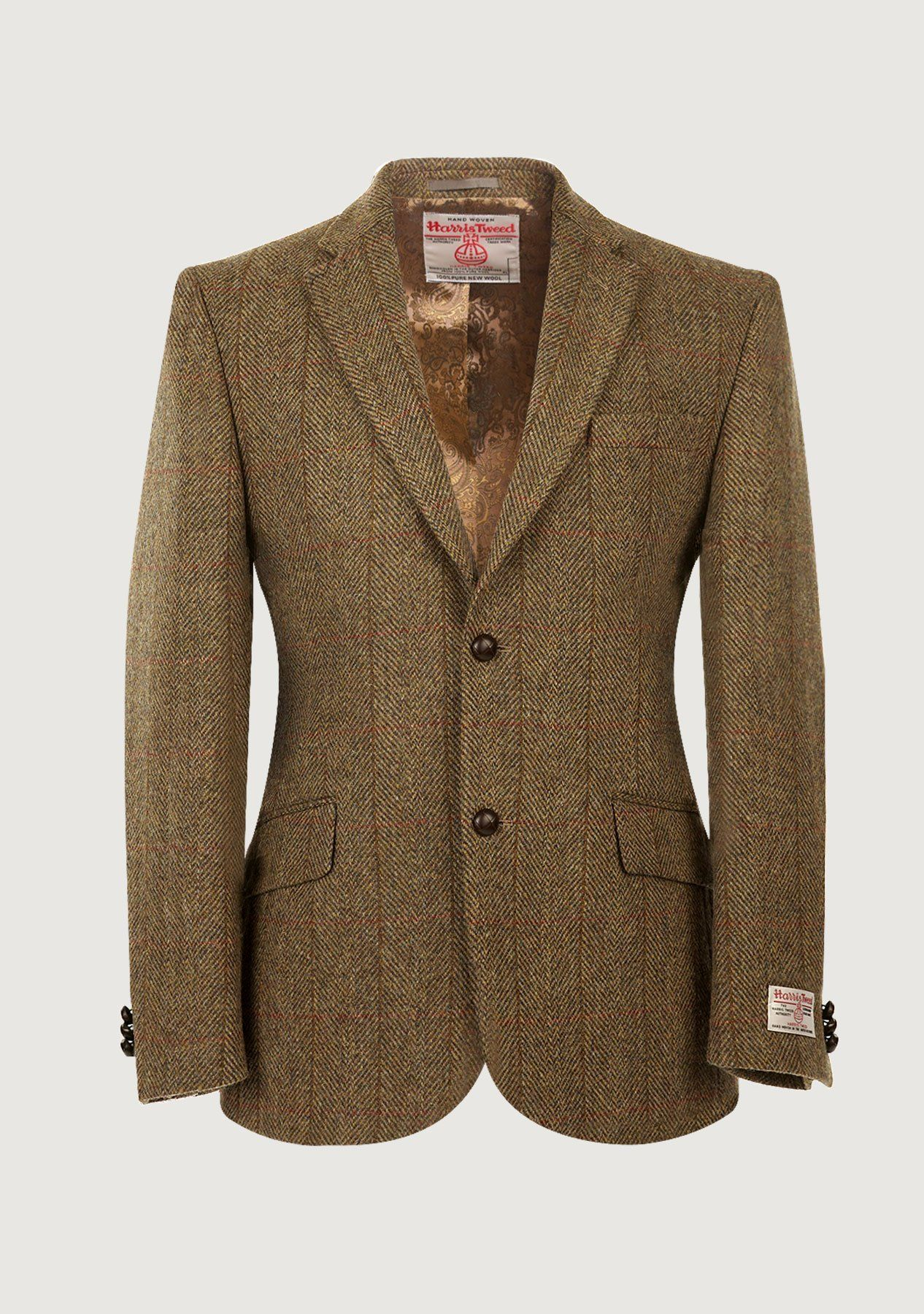Image of   Patrick Jacket Harris Tweed, mustard herringbone