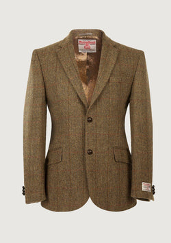 Patrick Jacket Harris Tweed, mustard herringbone