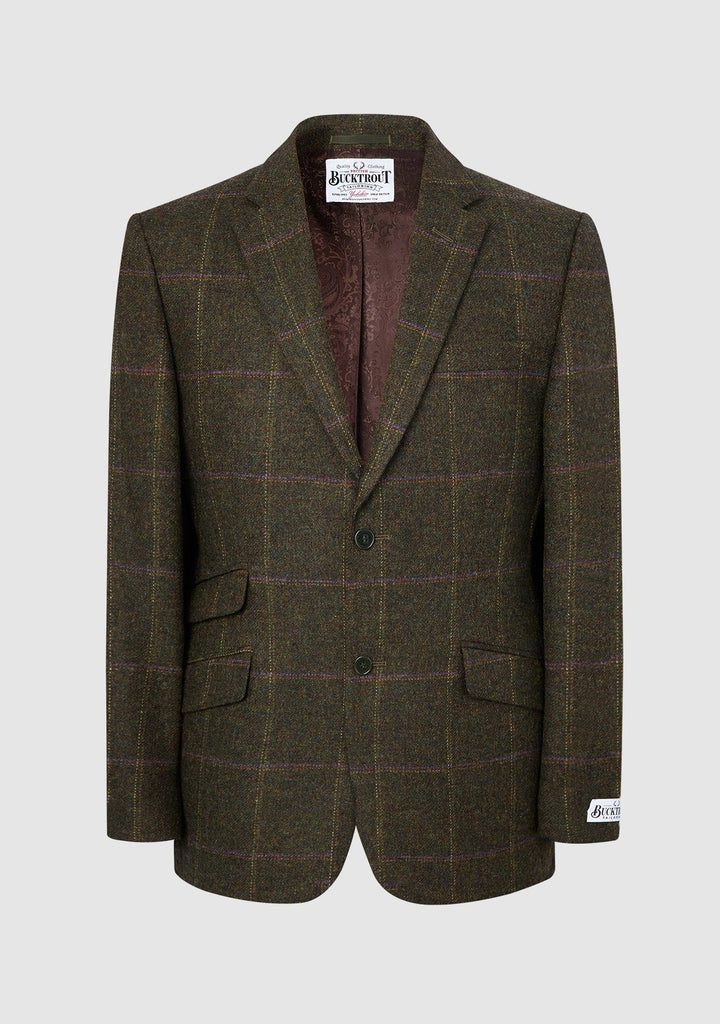 Patrick Jacket Yorkshire Tweed, grøn herringbone