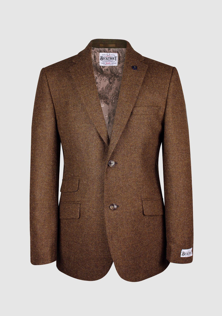 Patrick Jacket Yorkshire Tweed, tobacco herringbone