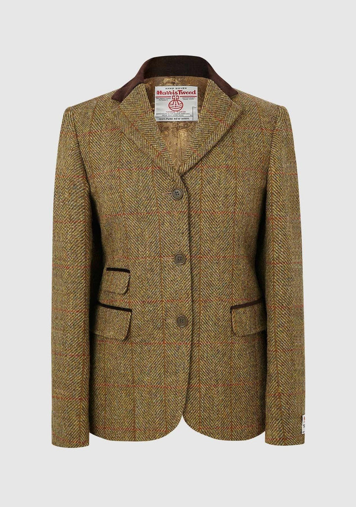 Sarah Jacket Harris Tweed, mustard herringbone