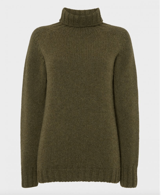 Lambswool Roll Neck, Loden grøn