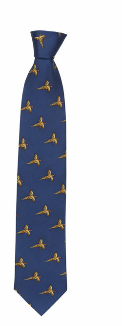 Hoggs of Fife silkeslips, navy pheasants