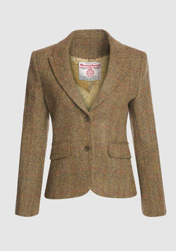Tammy Short Jacket Harris Tweed, mustard herringbone