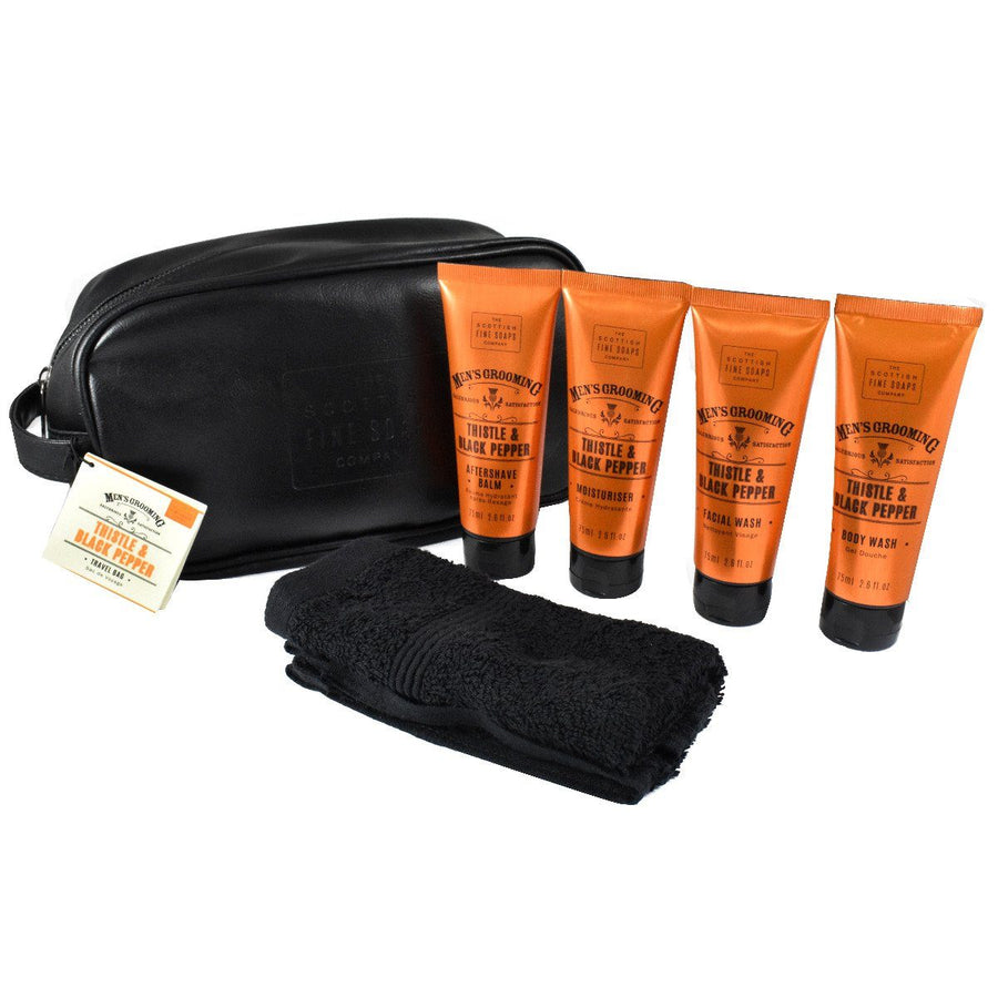 Thistle & Black Pepper Mens Grooming Travel Kit