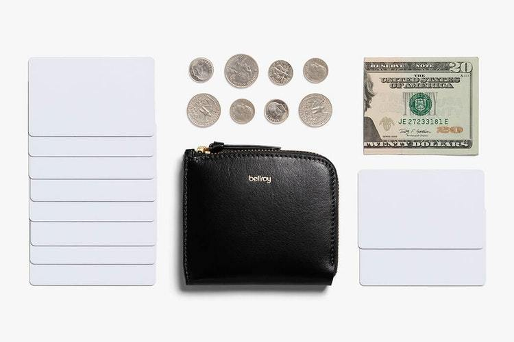 Bellroy Pocket Mini pung, læder, sort