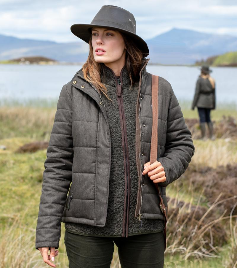Elgin Ladies Quilted Jacket, mørk salviegrøn