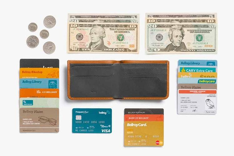 Bellroy Hide & Seek Wallet RFID, karamelbrun