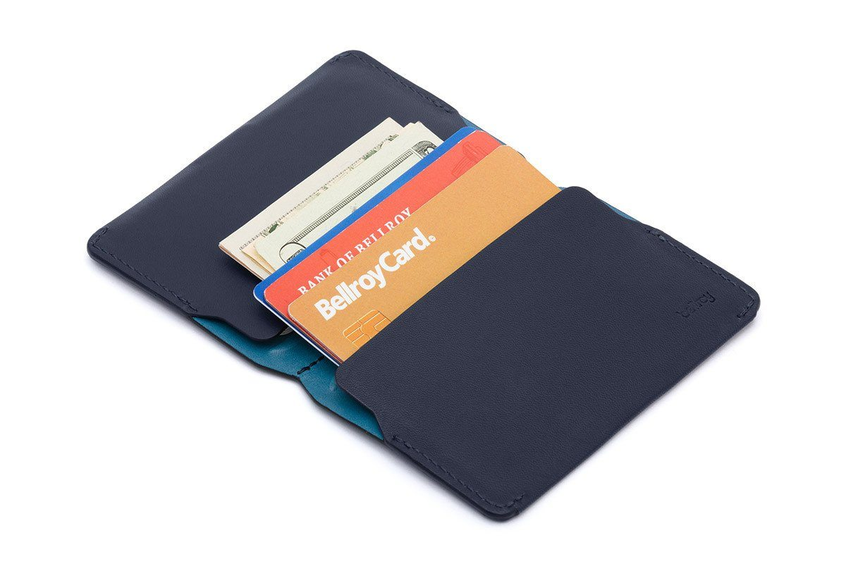 Image of   Bellroy Card Holder, visitkort etui, stålblå