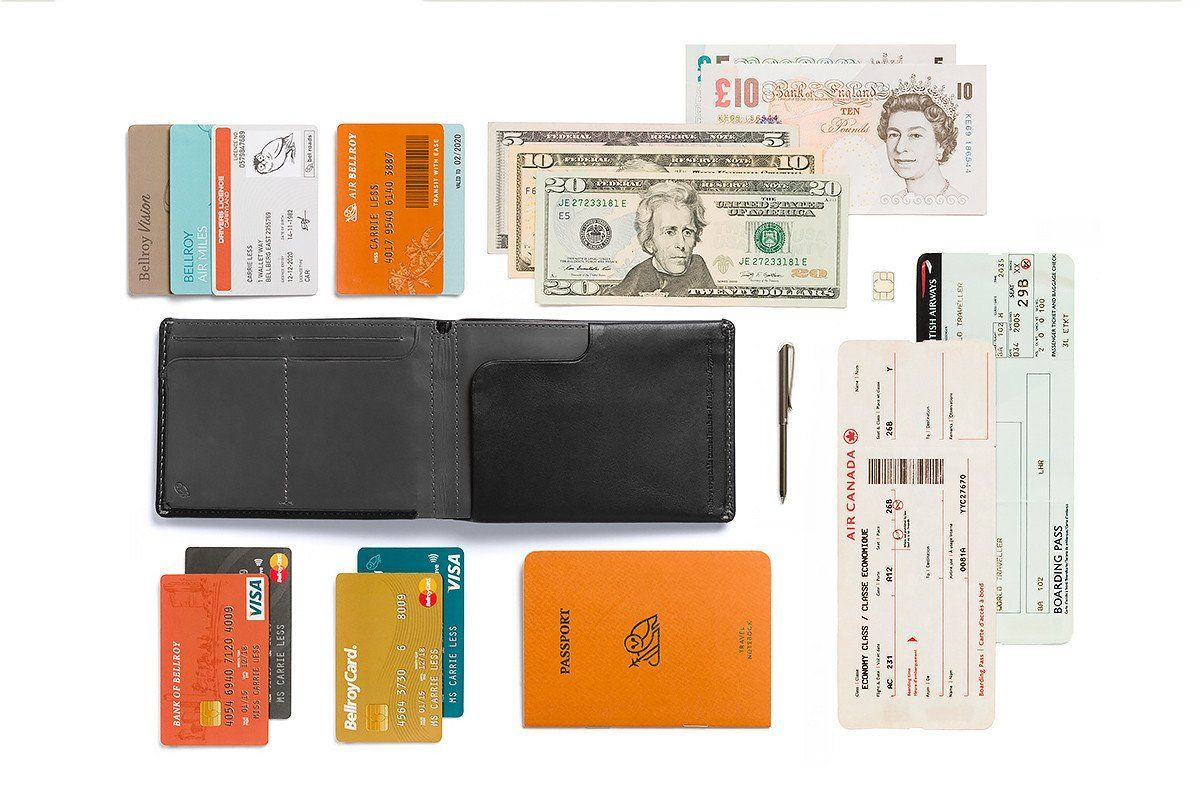 Bellroy Travel Wallet RFID NEW, sort