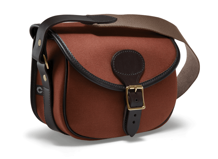 CROOTS Rosedale Cartridge Bag, kanvas, fox tan/ræverød
