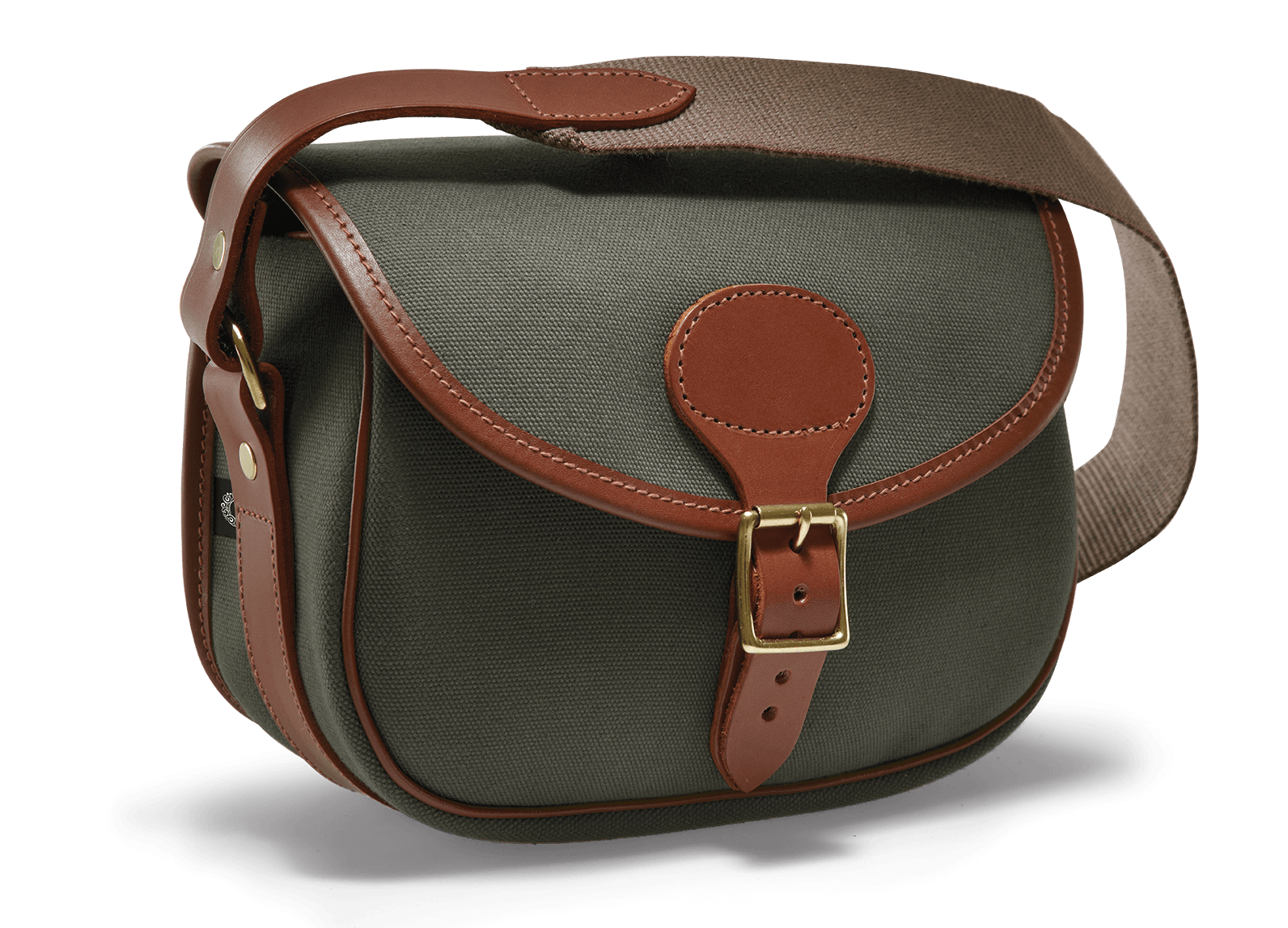 Image of   CROOTS Rosedale Cartridge Bag, kanvas, dark loden/light tan
