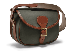 CROOTS Rosedale Cartridge Bag, kanvas, dark loden/light tan