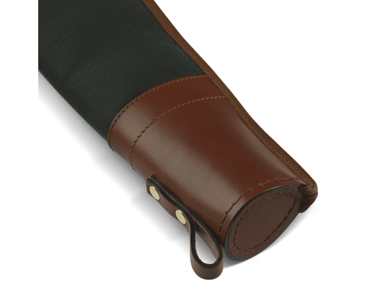 CROOTS Rosedale Shotgun Slip, Double, kanvas, dark loden/dark tan