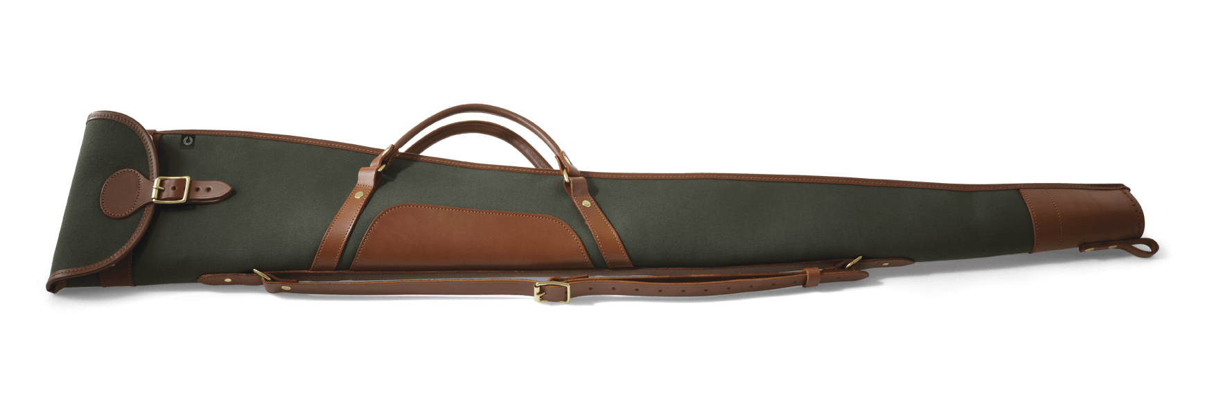 "CROOTS Rosedale Shotgun Slip 30"", håndtag, kanvas, dark loden/light tan"