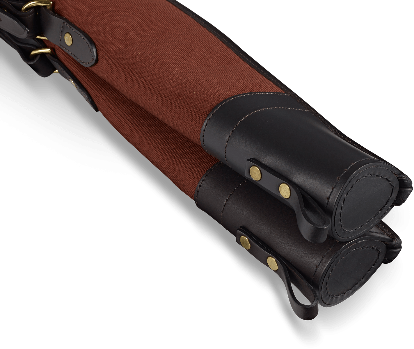 CROOTS Rosedale Shotgun Slip, Double, kanvas, fox tan/ræverød