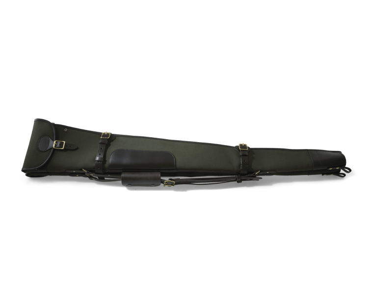 Image of   CROOTS Rosedale Shotgun Slip, Double, kanvas, dark loden/dark tan