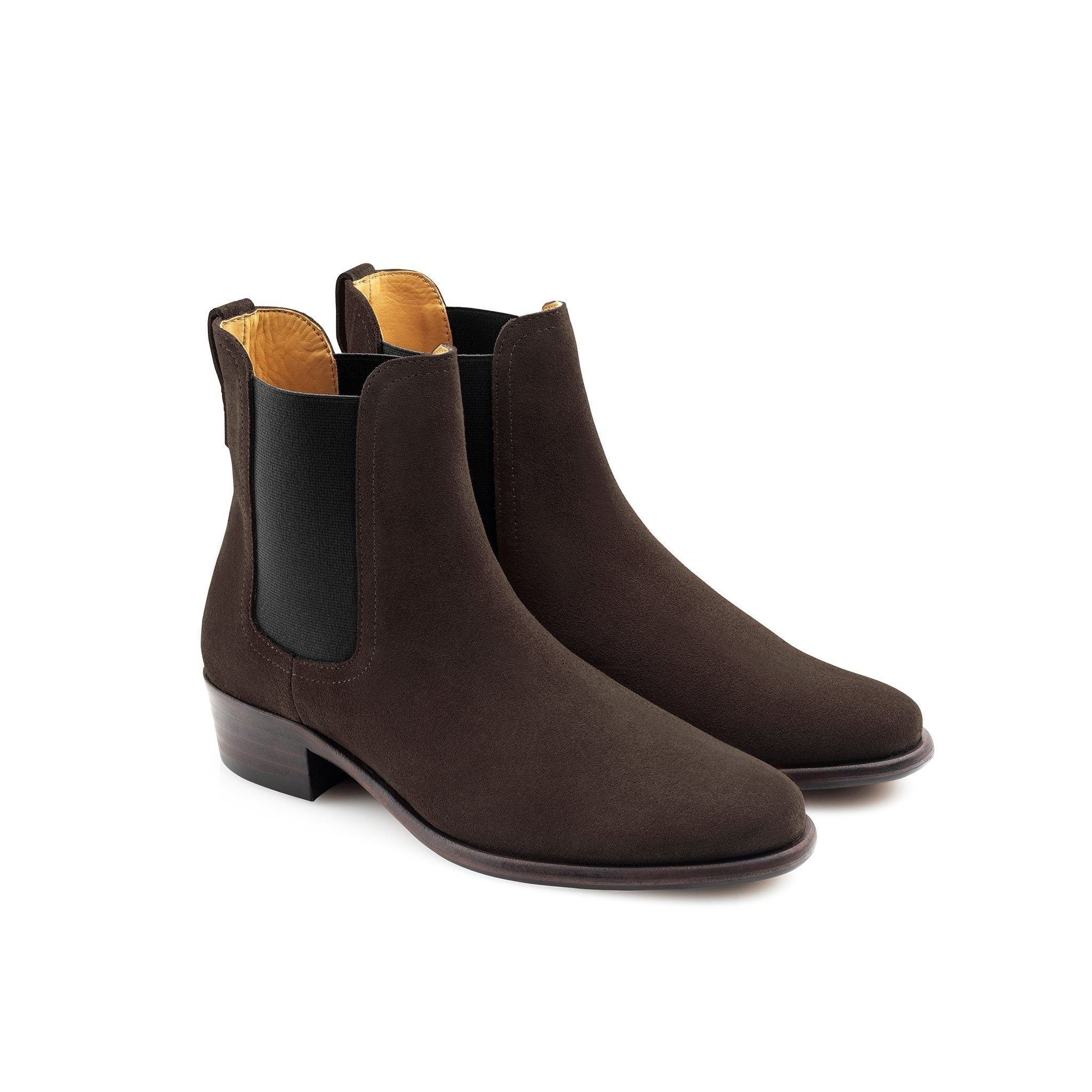 Chelsea Ladies Suede Boot, chocolate/mørkebrun