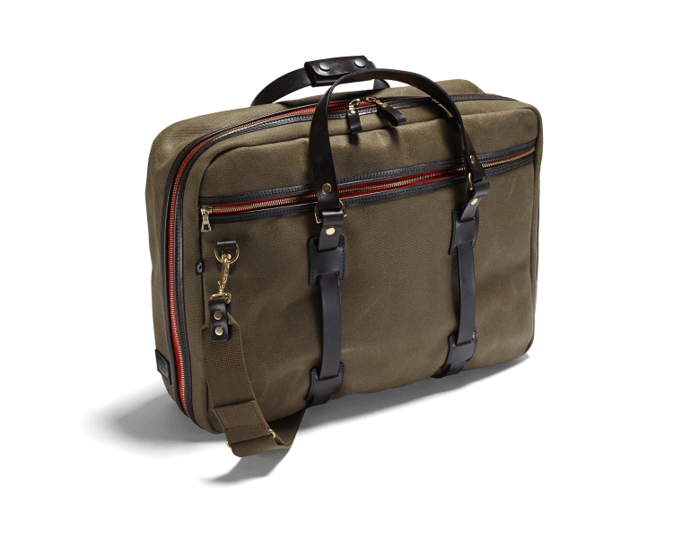 CROOTS Vintage Flight Bag, kanvas, oliven