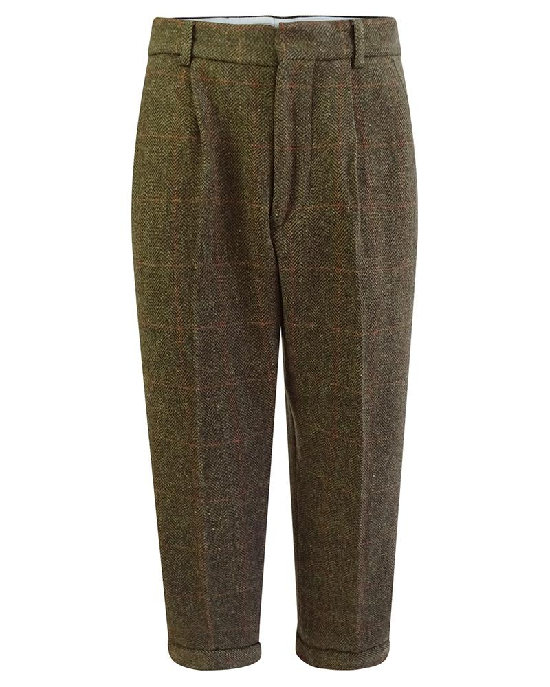 Image of   Harewood lambswool tweed breeks/knickers, mørk grøn herringbone