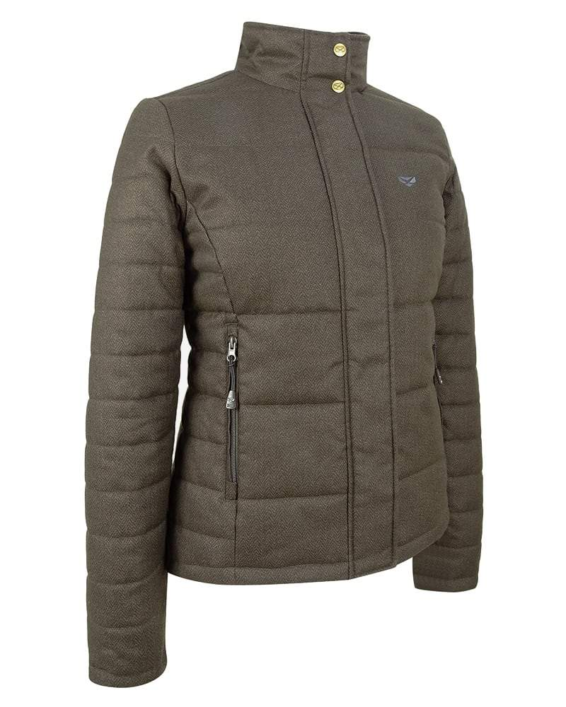 Image of   Elgin Ladies Quilted Jacket, mørk salviegrøn