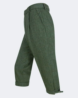 Helmsdale tweed breeks/knickers, grønmeleret herringbone