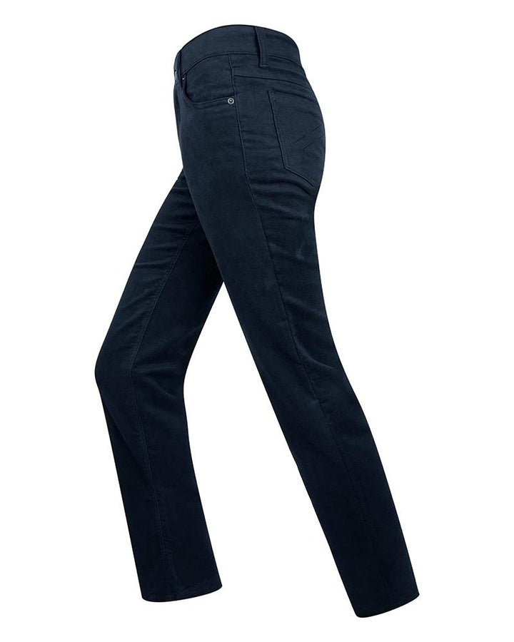 Ladies Stretch moleskin jeans dame, marineblå