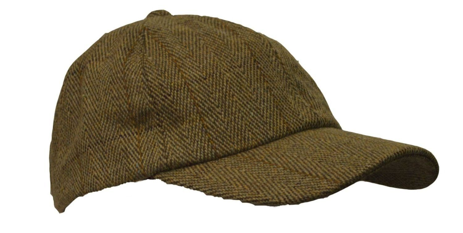 Image of   Tweed baseball cap, one size, lys salvie