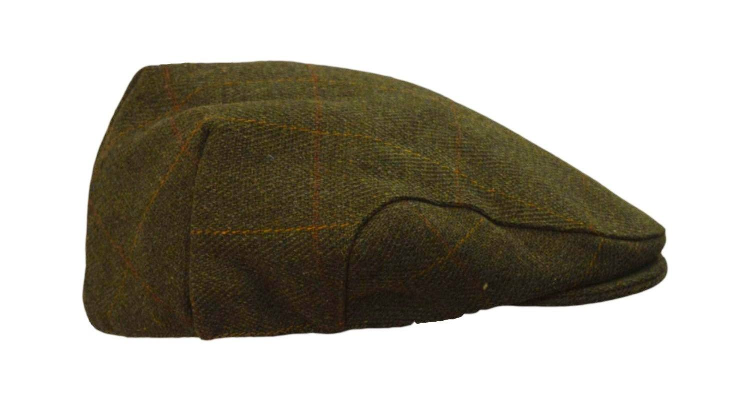 Image of   Tweed Country sixpence hat, mørk grøn