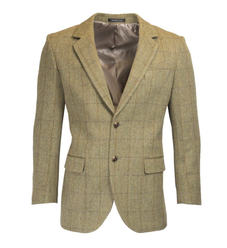 Windsor mens blazer, tweed, lys salvie