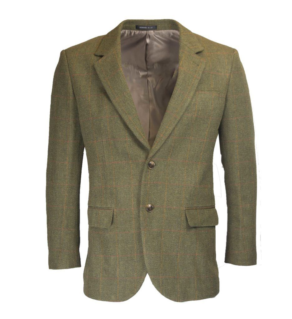 Image of   Windsor mens blazer, tweed, mørk grøn