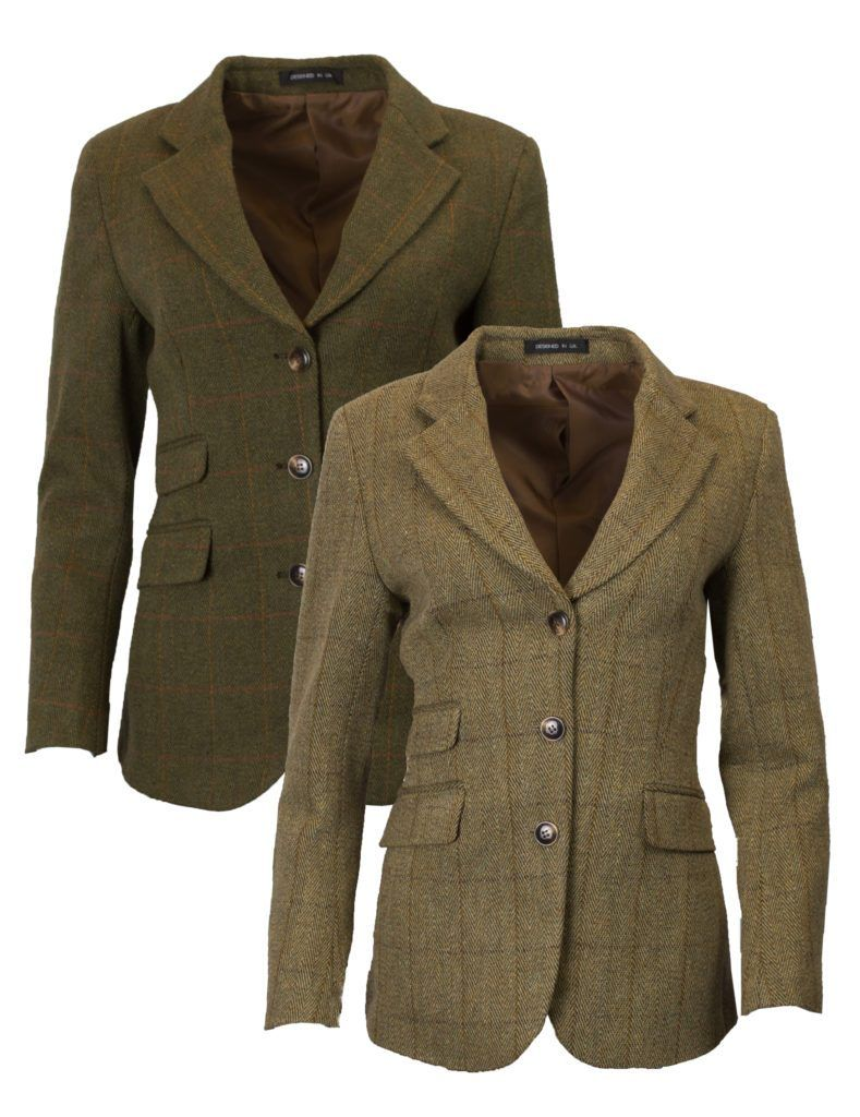 Mayland ladies hacking jacket, tweed, mørk grøn