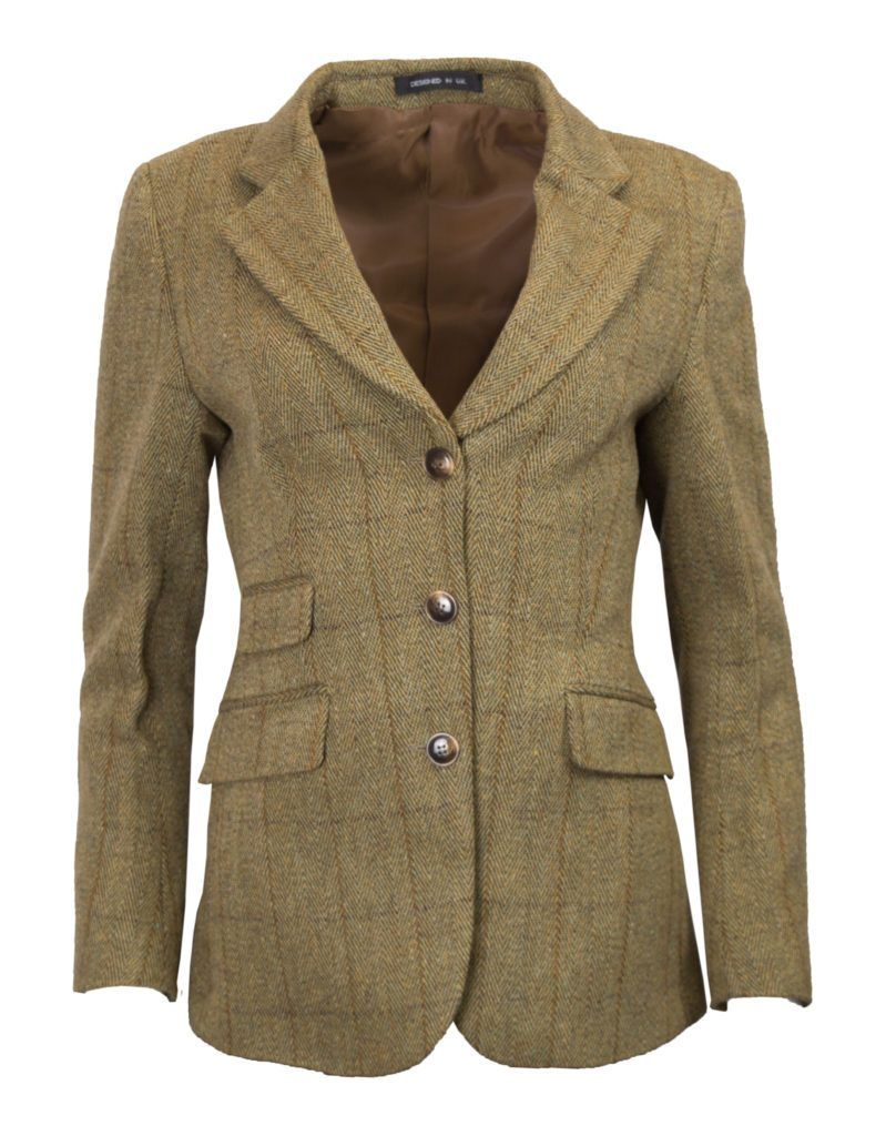 Mayland ladies hacking jacket, tweed, lys salvie