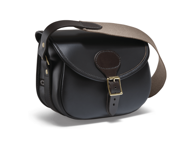 CROOTS Byland Cartridge Bag, læder, dark havana