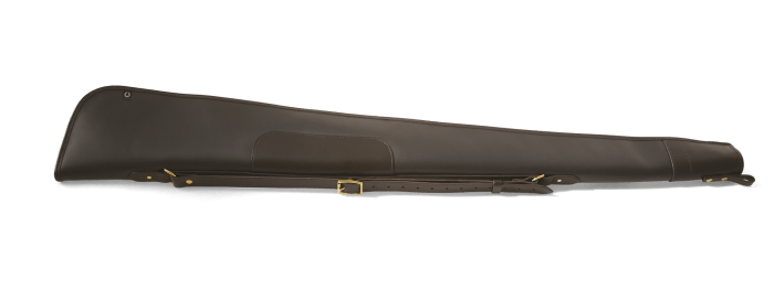 CROOTS Byland Shotgun Slip zip only, læder, dark havana