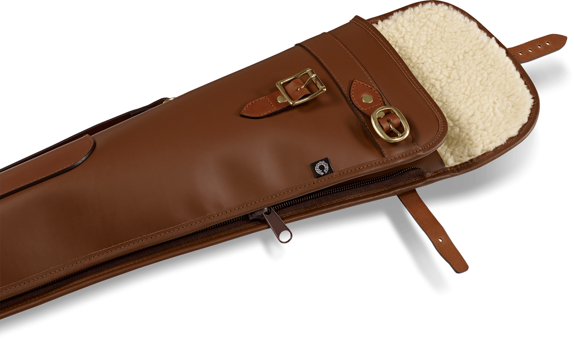 CROOTS Byland Shotgun Slip zip/flap, læder, london tan