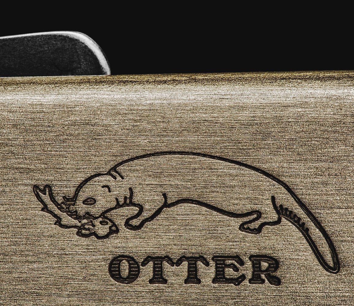 Otter Mercator foldekniv, messing