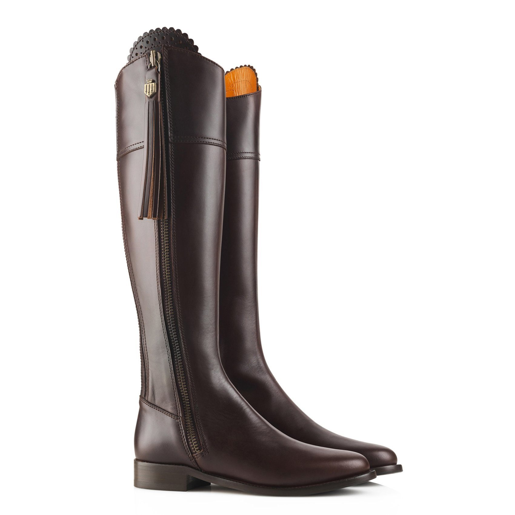 Regina Leather Boot, mahogany/mørkebrun
