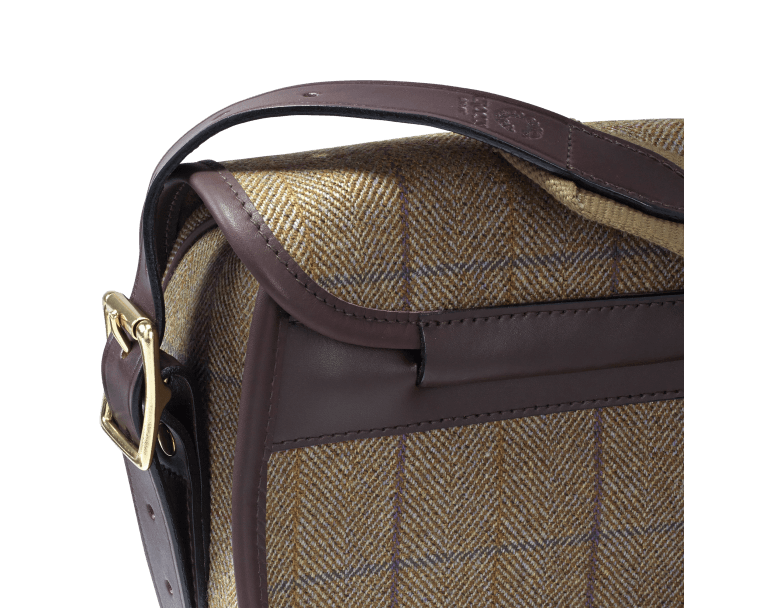 CROOTS Helmsley Cartridge Bag, tweed, burgundy