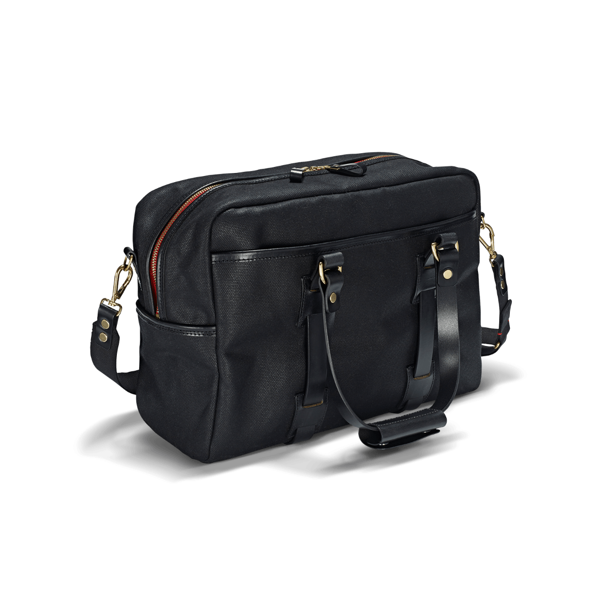 CROOTS Vintage Traveller Bag, kanvas, sort