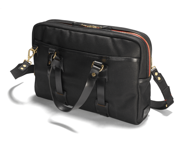 CROOTS Vintage Laptop Bag, kanvas, sort