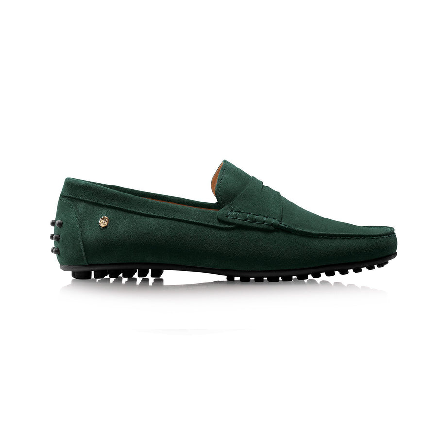 Monte Carlo Suede Driver Shoe, british racing green