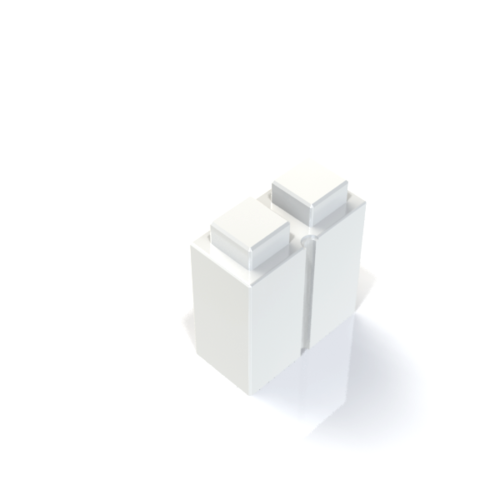 "EverBlock - 3"" x 6"" Quarter Block - White"
