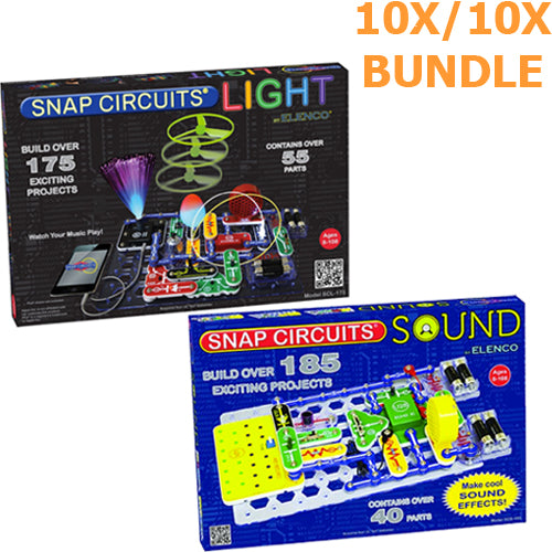 Snap Circuits LIGHT & SOUND Camp Bundle
